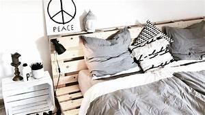 Comment Faire Un Lit En Palette : 10 id es diy pour cr er un lit en palette shake my blog ~ Nature-et-papiers.com Idées de Décoration