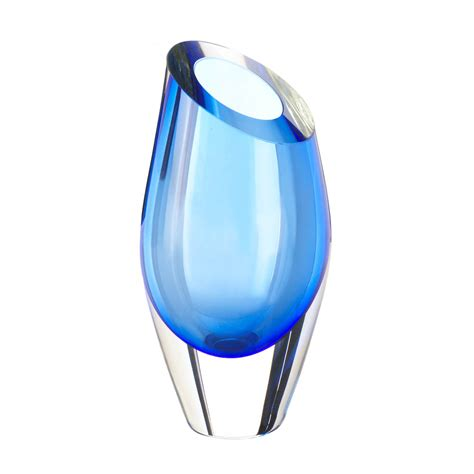 Glass Vase by Blue Cut Glass Vase Wholesale At Koehler Home Decor