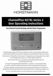 Horstmann Channelplus H27xl Series 2 User Operating