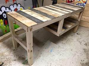 Multipurpose Pallet Table with Shelf