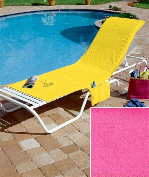 new folding lounge chair towel cover 4 bright colors