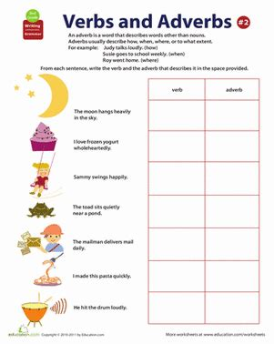 all about adverbs how often worksheet education