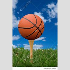Picture Of Basketball On Golf Tee