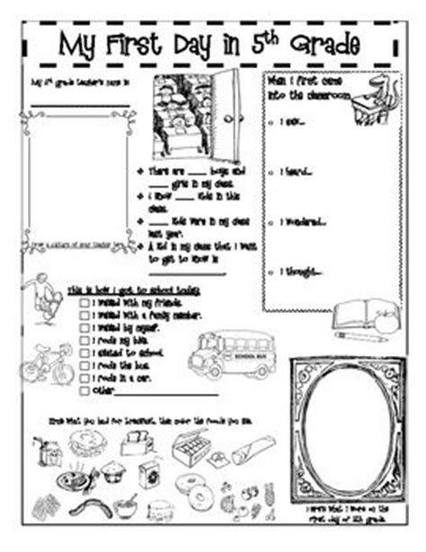 a back to school activity booklet for 5th grade print