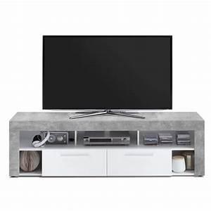 Meuble Tv Effet Beton : meuble tele effet beton achat vente meuble tele effet beton pas cher cdiscount ~ Teatrodelosmanantiales.com Idées de Décoration
