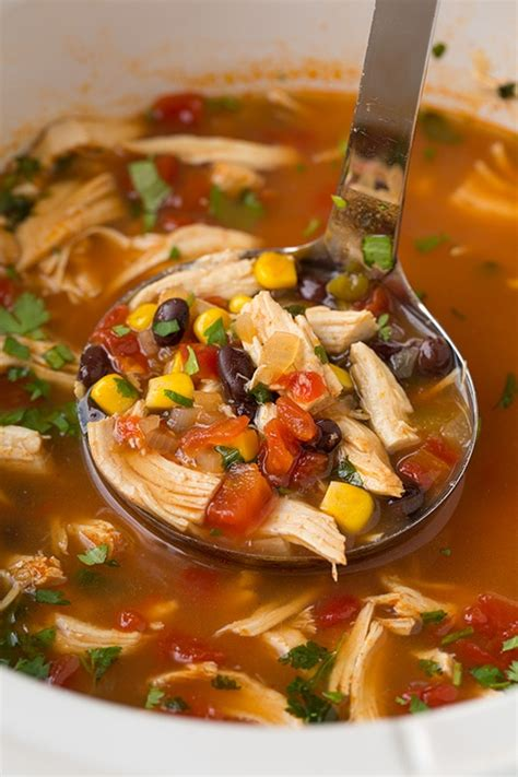 cooker chicken tortilla soup chicken tortilla soup recipe dishmaps