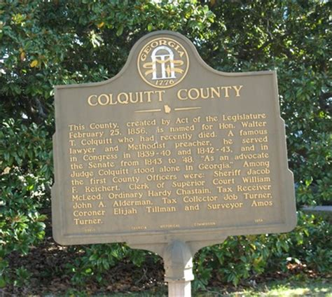 """See what unitedhealthcare can do for you. """"Colquitt County Marker, Moultrie, GA"""" by George Lansing Taylor Jr."""