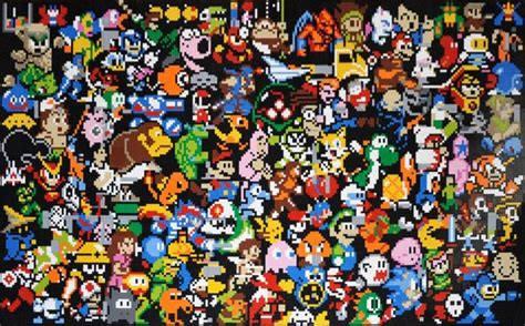 piece lego video game characters mosaic  sale