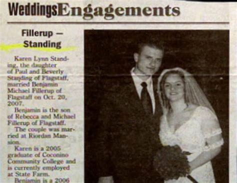funny wedding announcement  combos  newspapers