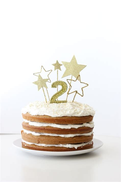 gold star cake toppers and allergy free frosting shea