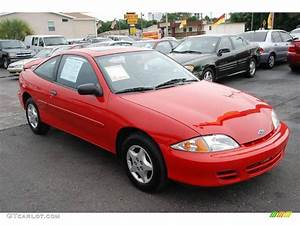 2002 Bright Red Chevrolet Cavalier Coupe #16155515 ...