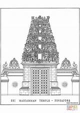 Temple Drawing Coloring Hindu Singapore Sri Pages Mariamman Indian Drawings Temples Simonfieldhouse Architecture India Wikipedia Colouring Sketch Google Line Printable sketch template