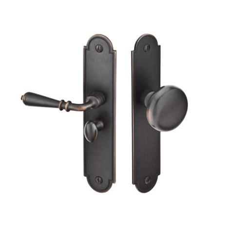 screen door knobs emtek 2290 arch style screen door lock brass or bronze