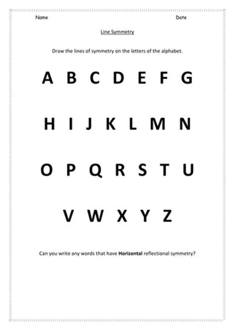ks1 alphabet symmetry worksheet by hroberts999