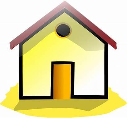 Homes Clipart Clip Yellow Vector Property Casa