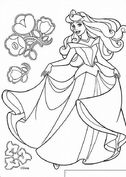 Aurora Coloring Princess Pages Beauty Disney