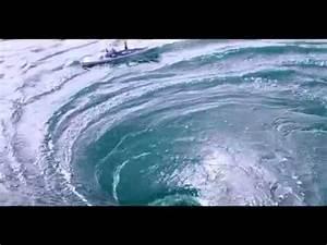 Boat stuck in a Whirlpool!! Ocean Whirlpool - YouTube