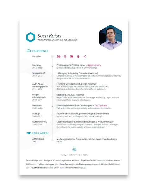 Resume Design by Creative Resume Designs That Can Get You Hired Part 2