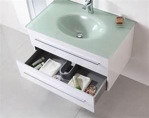 meuble salle de bain vasque verre wikiliafr With salle de bain vasque en verre
