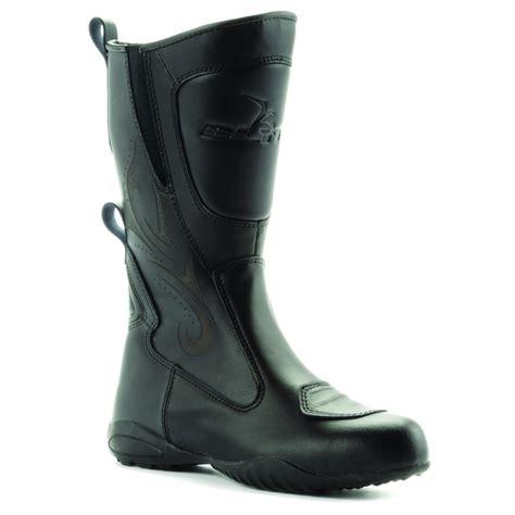 ladies black motorcycle boots blytz ladies waterproof leather motorbike womens