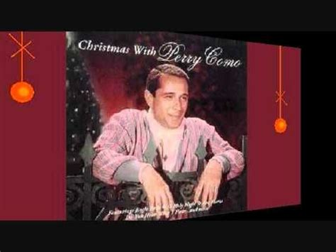 perry como singing o holy night 17 best images about christmas songs on pinterest