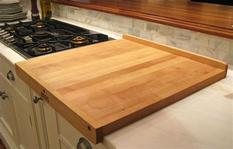 kitchen island cutting board top 20 ideas for installing a wooden countertop at your home 8164
