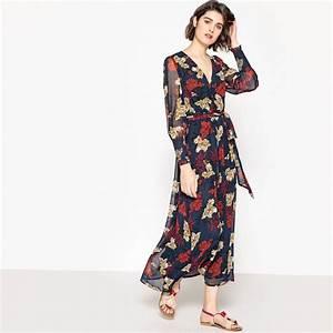 robe maxi imprimee fleurs manches longues imprime fond With tapis chambre bébé avec robe d été a fleur