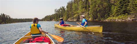 canoe lake trips wilderness canada