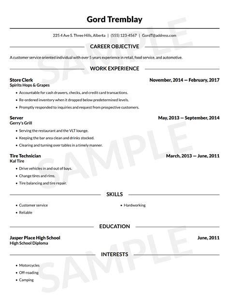 resume builder   resume template canada
