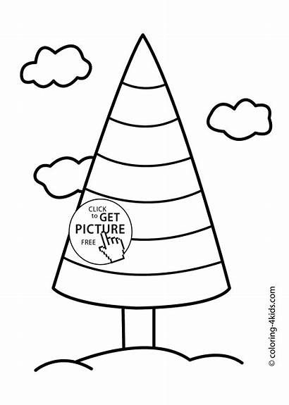 Coloring Rainbow Tree Nature Printable Pages