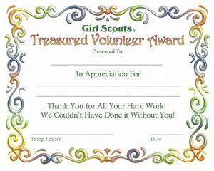 southern saratoga service unit certificates With girl scout award certificate templates