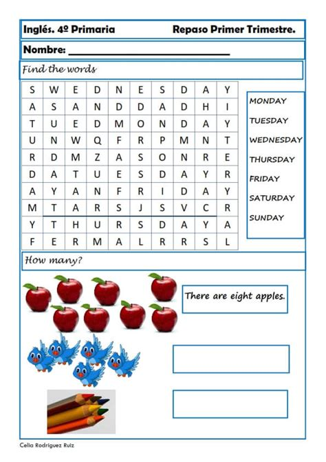 Savesave estandares ingles secundaria word for later. Fichas de inglés para cuarto de primaria