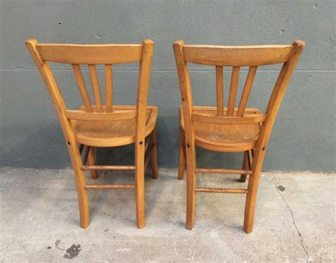 chaise bistrot ancienne ensemble de 8 chaises bistrot style baumann