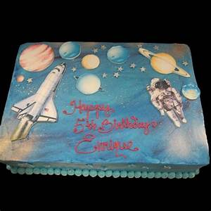 Home Astronaut And Shuttle In Space Birthday Cake | Rocket ...