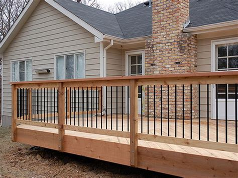 stand  wooden deck railing google search deck