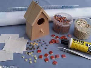 Mosaik Basteln Mit Kindern : mit kindern ein vogelhaus basteln und dekorieren aus holz ~ Lizthompson.info Haus und Dekorationen