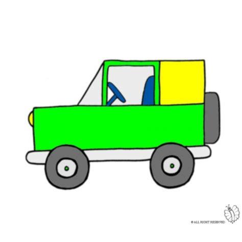 disegno  jeep fuoristrada  colori  bambini