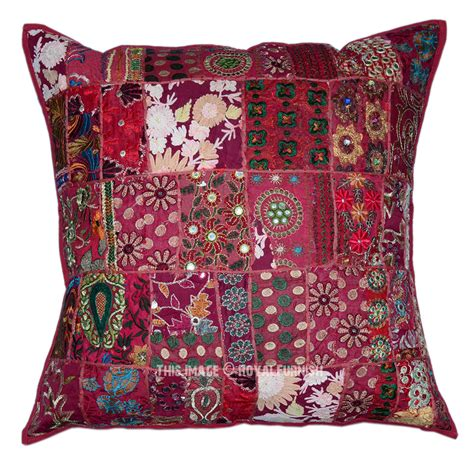 Oversized Decorative Pillow Covers by Oversized Vintage Bohemian Patchwork Square Indian