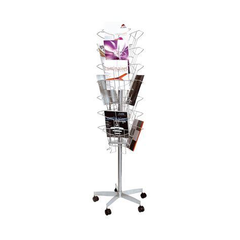 brochure carousel display rotating literature holder
