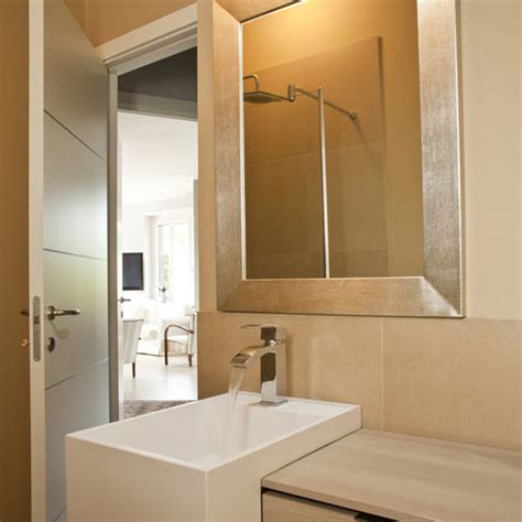 custom golden silver framed bathroom mirror contemporary