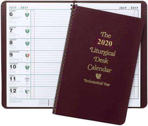 liturgical desk calendar