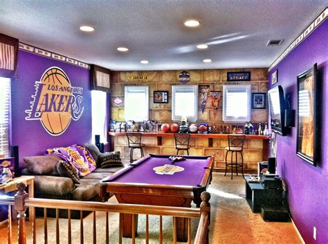 lakers man cave man cave   basketball bedroom