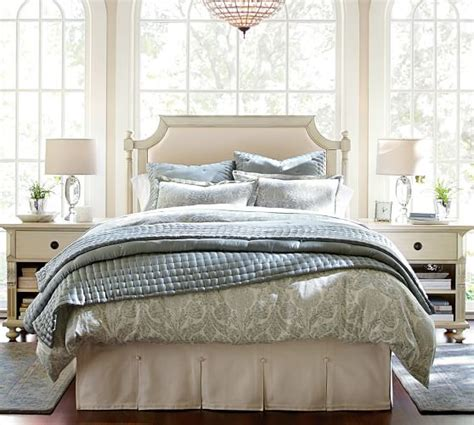 Pottery Barn Bed Skirts by Pleated Button Bed Skirt Pottery Barn