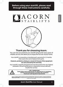 Acorn Mobility Service Acorn180 Acorn 180 Curved Lift User
