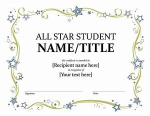 all star student certificate templates officecom With free award certificate templates for students