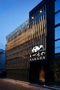 A, Facade, Of, Wood, Latticework, Covers, This, Japanese, Restaurant