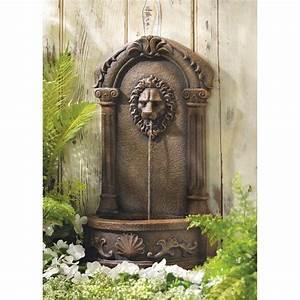 Lion Head Courtyard Fountain w Pump Garden Patio Deck Yard
