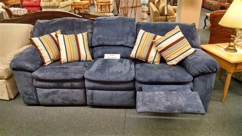berkline reclining sofa microfiber berkline blue reclining sofa delmarva furniture consignment