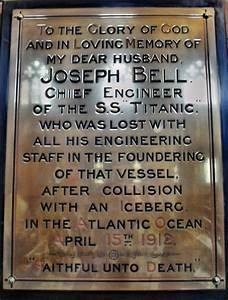 Titanic plaque ... Dr Joseph Bell Quotes