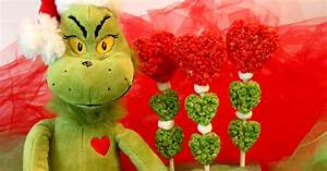 Grinch Hearts Rice Krispie Treats